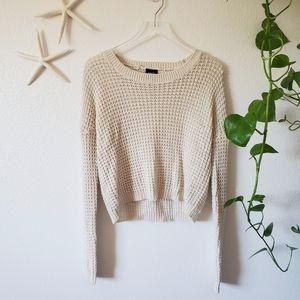 Rue 21 Waffle Knit Sweater Size Large